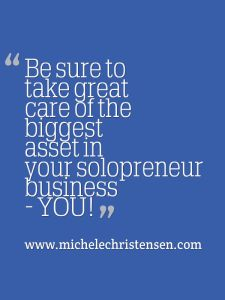 Your biggest solopreneur asset is YOU #solopreneur #selfcare