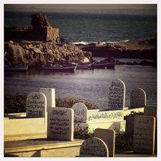 Mahdia cementerio junto al mar. Túnez.
