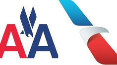 Old & new logo of American Airlines