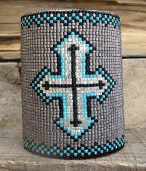 Desert Sage Bead Art: ____ Cross