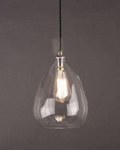 Modern Lighting, Wellington Clear Glass Pendant Light