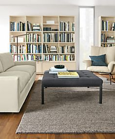 Ravella Upholstered Cocktail Ottomans - Modern Upholstered Tables & Ottomans - Modern Living Room Furniture - Room & Board