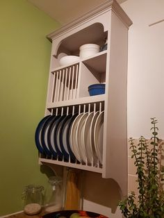 The Neuk This is probably the most popular rack in the shop. Made in pine , primed with a spray paint finish. Full colour list available in the photos, just message me with what colour you like, If its not there let me know and I can get it for you. Made in Scotland. Sizes Bottom shelf 12 plate Cabinet Plate Rack, Plate Racks In Kitchen, Dish Storage, Storage Shelves, Kitchen Storage, Storage Rack, Storage Containers, Wood Cabinets, Kitchen Cabinets