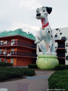 All Star Resorts, Disney World (2002, 2004)- These are the budget resorts at Disney.  They are GREAT for families who plan to spend most of their day at the parks. They are themed after Disney Movies (pic), Music, Sports and Pop Culture.  Very basic, but better than what you would get at an outside chain hotel.