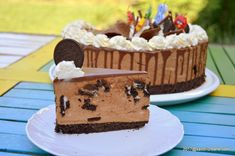 felie de tort oreo cu mascarpone si ciocolata leopard Something Sweet, Cheesecakes, Nutella, Mousse, Biscotti, Food And Drink, Sweets, Healthy, Birthday