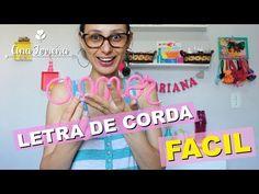 ACABAMENTO EM NOME FEITO COM TRICÔ ARAMADO - YouTube