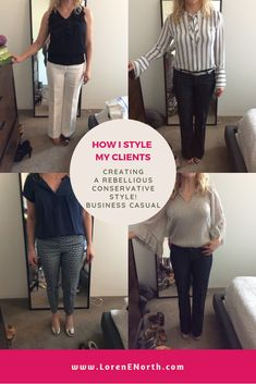 Behind-the-scenes with real people and find out how I style my clients in real life. See the outfits I create from my client's wardrobes (shopping their clos. Conservative Fashion, Comfortable Clothes, Business Casual, Casual Looks, What To Wear, Style Me, Challenges, Goals, Classic