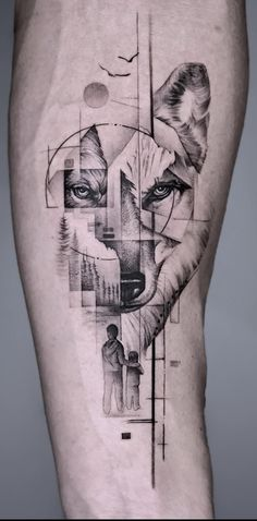 Line Art Tattoos, Body Art Tattoos, Tattoo Drawings, Tatoos, Wolf Tattoos Men, Tattoos For Guys, Tribal Tattoos, Wolf Tattoo Sleeve, Sleeve Tattoos