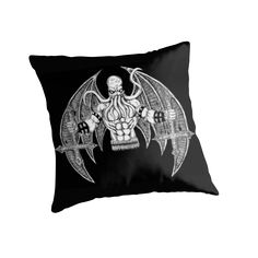 death metal cthulhu couch pillow redbubble.com