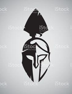 Spartan capacete vetor e ilustração royalty-free royalty-free