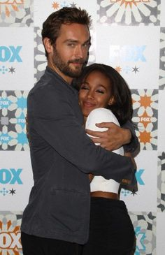 Sleepy Hollow's Tom Mison & Nicole Beharie......is it just me or is there something going on with these two? He says he's married but this hug says something else.