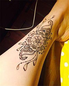 LZC nouveau 15x21cm adulte tatouage temporaire pour l'épaule et décoration royale pour parti vacances tatouages épaule homme et de femme…