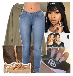 """""""real n*gga, need a real b*tch. just somebody just to chill with"""" by lamamig ❤ liked on Polyvore featuring UNIF, Louis Vuitton and Puma"""