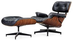 1956 Designed for Herman Miller Furniture Company Designed by Charles and Ray Eames (lounge chair and ottoman)