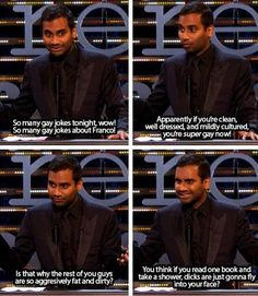 Aziz Ansari? More like Aziz NOTsari. This is funny…but seriously, though.