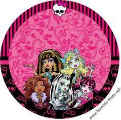Monster High in Pink: Free Printable Kit.