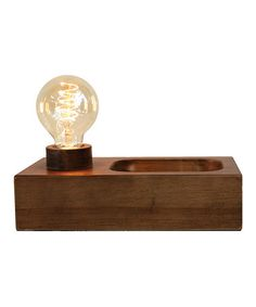 Loving this Pine Wood Valet Lamp on #zulily! #zulilyfinds