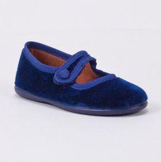 Mary Jane- blue velvet