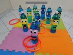 17 Fun Ways to Recycle Pet Bottle Activities for Early Childhood Education – DIY-Anleitung – Recycling Motor Activities, Infant Activities, Educational Activities, Preschool Activities, Preschool Kindergarten, Fun Games, Games For Kids, Art For Kids, Pet Bottle