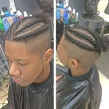 Image result for manbun fade braid