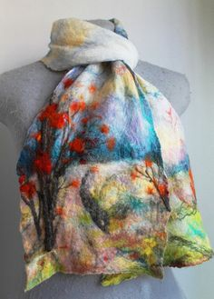 Felted Scarf Reserved for Jenn by mgotovac on Etsy