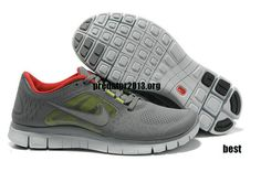 Womens Nike Free Shoes - Nike Free Run 3 5.0 Cool Grey Red