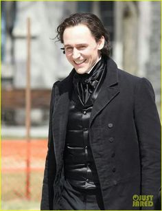 Tom on the set of Crimson Peak in Toronto April 15th