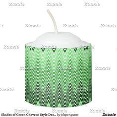 Shades of Green Chevron Style Design