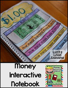 Money Second Grade Math Notebook Interactive Math Journals, Math Notebooks, Teaching Money, Student Teaching, Teaching Ideas, Money Activities, Math Resources, Math Classroom, Maths