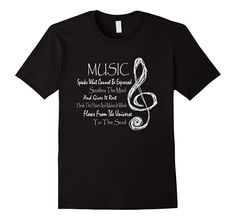 Amazon.com: Music Soothes Heals The Soul Tshirt: Clothing Love Music Graphic Design Music lovers, Music teachers, musicians, artists, musical instrument students will love this tee!