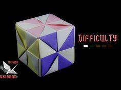 "[ORIGAMI TUTORIAL] ""Pinwheel"" Cube || Decorations/Ornaments/Beginners/Easy - YouTube"