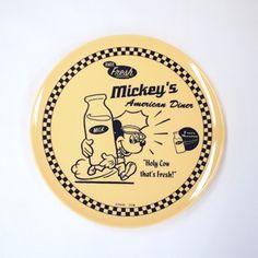 Disney AMERICAN Diner メラミンプレート ミルク