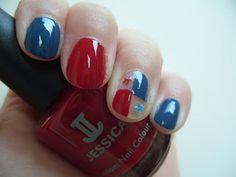 Pretty Perfect Beauty: NOTD: Panama Flag Manicure