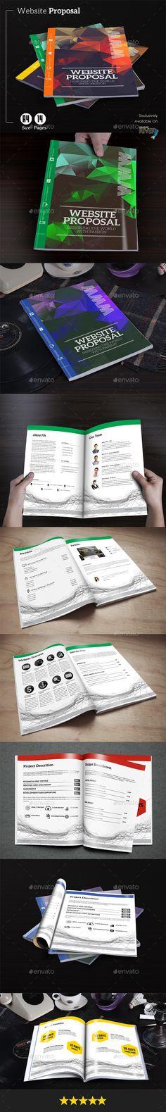 Website Proposal Template #design Download: http://graphicriver.net/item/website-proposal/11824489?ref=ksioks