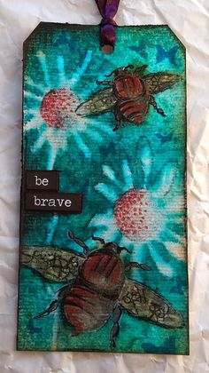 klistersøster: B is for Brave using Tim Holtz, Ranger, Idea-ology, Sizzix and Stamper's Anonymous products; Mar 2015