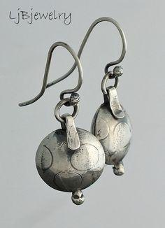 Silver Earrings Dangle Earrings Silver Beads Hollow by LjBjewelry