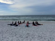 Birthday yoga on the beach! Best birthday ever! #dewturns40 #lifeisgoodatthebeach #lovefl #yoga #beachyoga by dewbydew