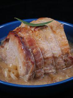 Recette Rôti de porc à la moutarde et au miel
