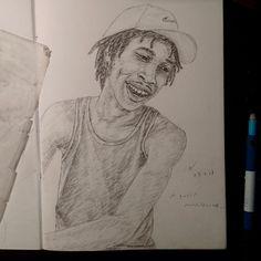 Quiet #instaartist #sketchbook #illustration #drawing #pencil #blackart #YoungBlackArtists