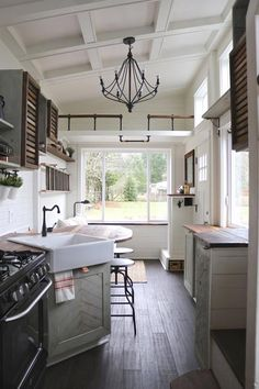 Kitchen U0026 Living Room   Tiny Getaway By Handcrafted Movement Farmhouse  Refrigerators, Cute Apartment,
