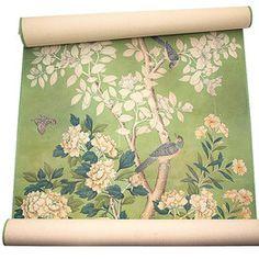 Handpainted Chinese Wallpaper, Gracie Studio