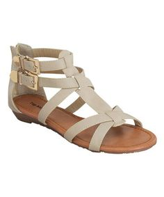Love this Beige Double-Buckle Gladiator Sandal on #zulily! #zulilyfinds
