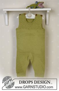 Green leaf / drops baby - free knitting patterns from drops design jacket. Rampler and socks frog and teddy and blanket - free patterns from drops design. Baby Knitting Patterns, Knitting For Kids, Baby Patterns, Free Knitting, Leaf Patterns, Free Crochet, Crochet Patterns, Baby Romper Pattern Free, Onesie Pattern