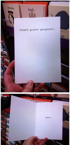 If I don't get this card when I get pregnant in the far away future, I will be mad; friends take note.