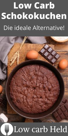 Super lecker und schokoladig. So gut schmeckt dieser Low Carb Schokokuchen! Low Carb Desserts, Zahn, Healthy Eating, Held, Cooking, Super, Healthy Recipes, Bakken, Healthy Food