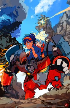 Tengen Toppa Gurren Lagann - Simon and Nia by JC *   ★ || CHARACTER DESIGN REFERENCES (https://www.facebook.com/CharacterDesignReferences & https://www.pinterest.com/characterdesigh) • Love Character Design? Join the Character Design Challenge (link→ https://www.facebook.com/groups/CharacterDesignChallenge) Share your unique vision of a theme, promote your art in a community of over 25.000 artists! || ★