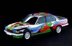 BMW ART CAR s 1990     artist: Cesar Manrique    car: BMW E32 730i