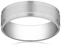 Mens 10k White Gold 7mm Comfort Fit Satin Finished with High Polished Edges Wedding Band Size 9 * More info could be found at the image url.