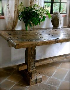 Another DhowDesign EA dining table, this one with a lovely carving...