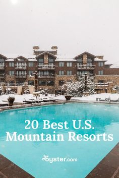 Whether you prefer skiing in Colorado's Rocky Mountains, hiking in Arizona's desert-mountain landscape, or apès-ski hot tubbing in Utah, there's a mountain resort within the United States for you. From Aspen to Jackson Hole, we've rounded up the best of the best when it comes to a mountain resort -- cozy digs, ample amenities, and picturesque mountain vistas -- so you can add them to your bucket list.